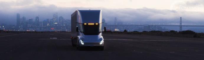 Tesla Semi Truck sedang melakukan tes