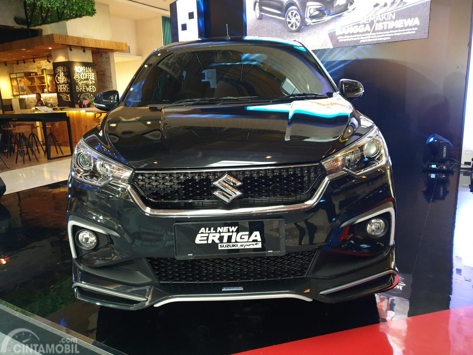 Ada cukup banyak ubahan pada tampilan depan Suzuki Ertiga Sport 2019