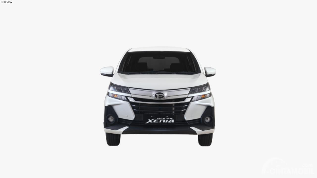 Gamabr mobil Daihatsu Grand New Xenia 1.3 R 2019 berwarna putih dilihat dari sisi depan