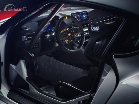 Review Toyota GR Supra GT4 Concept 2019: Gambar menunjukkan interior Toyota GR Supra GT4 Concept 2019