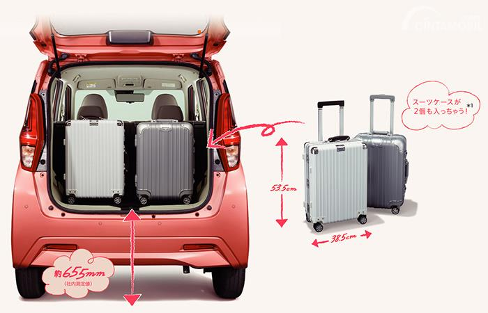 bagasi Mitsubishi eK Wagon 2019 berwarna merah