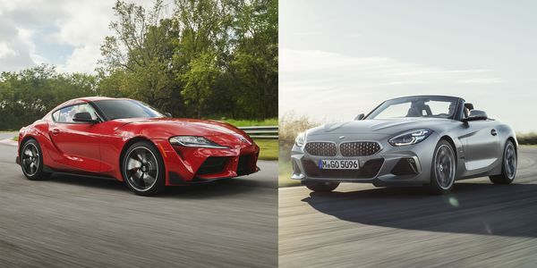Foto new BMW Z4 dan New Toyota Supra A90