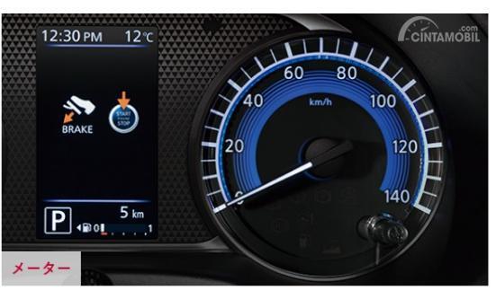 Gambar menunjukkan desain Spidometer Nissan Dayz 2019