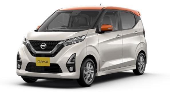 Gambar mobil Nissan Dayz 2019 tipe X berwarna abu-abu dilihat dari sisi depan