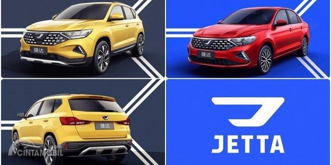 mobil baru Jetta VS5 dan VA3 berwarna merah dan kuning
