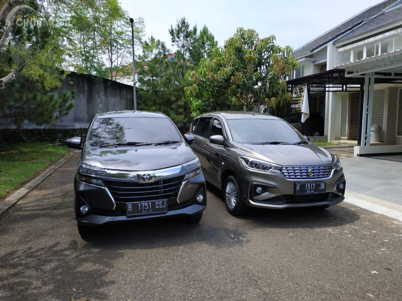Tampak All New Suzuki Ertiga GL AT 2019 vs New Toyota Avanza 1.5 G MT 2019