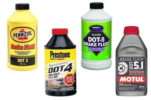 Berbagai jenis minyak rem