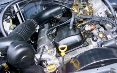 Gambar menunjukkan desain bagian Mesin 7K-E di Toyota Kijang LGX 2000