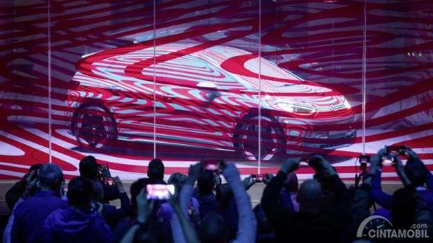 penonton dan panggung untuk Volkswagen ID.3 2019
