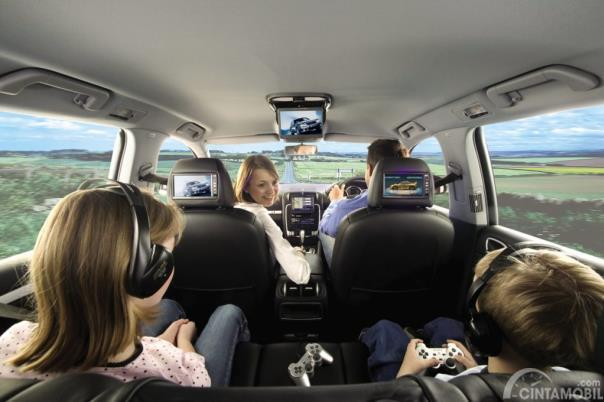 Suasana perjalanan mudik dalam mobil