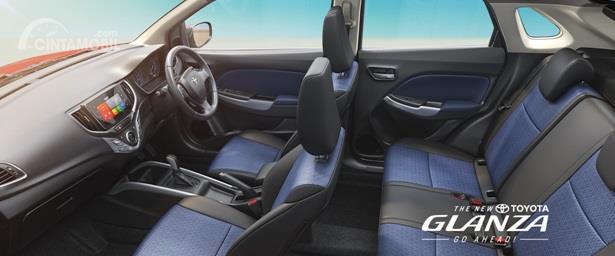 Interior Toyota Glanza dikemas cukup menawan dan memiliki fitur yang serupa dengan Suzuki Baleno