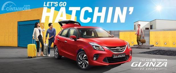 Toyota Glanza menerapkan tema utama Let's Go Hatcin' yang cukup fenomenal di India