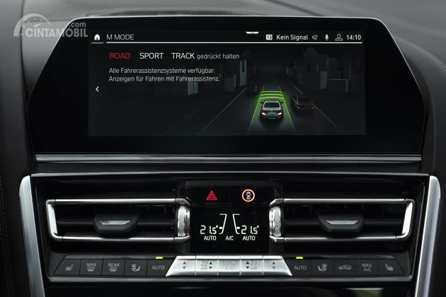 Gambar menunjukkan Fitur BMW M Mode pada mobil BMW M8 2020