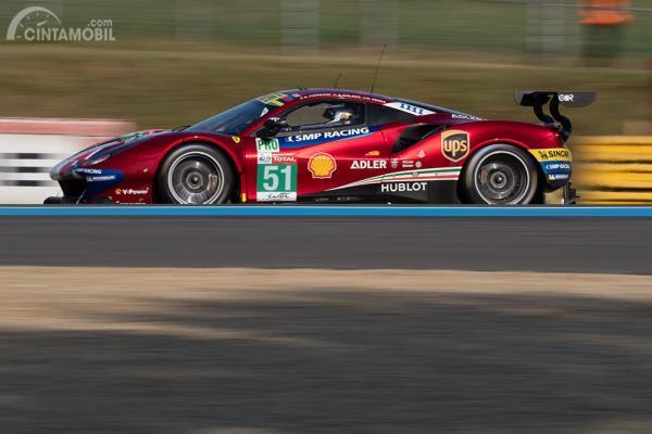 Ferrari 488 AF Corse balapan Le Mans 2018