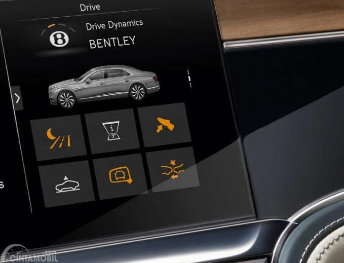 Gambar menunjukkan fitur Bentley Dynamic Ride pada Bentley Flying Spur 2019