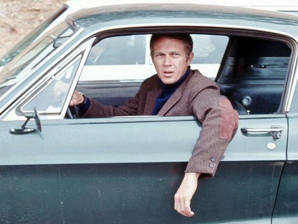 Foto Steve McQueen dalam film Bullitt