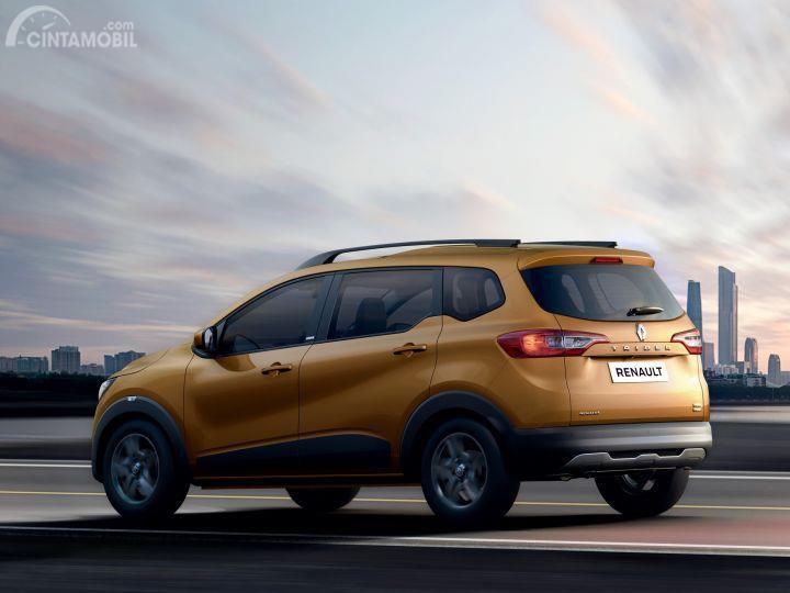 model baru Renault Triber 2019 berwarna kuning