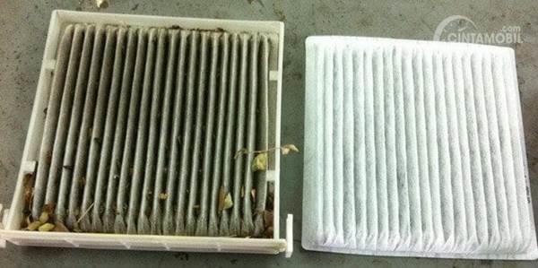 perbandingan kondisi filter AC mobil