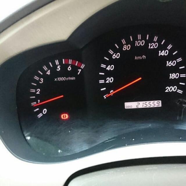 Gambar bagian Spidometer pada mobil Toyota Kijang Innova 2.7 V AT 2005