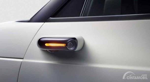 Kaca Spion Honda E-Concept sudah menerapkan fungsi kamera dan ditampilkan di layar utama