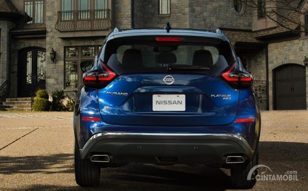 Eksterior Belakang Nissan Murano 2019 menggabungkan unsur maskulin, sporty serta modern