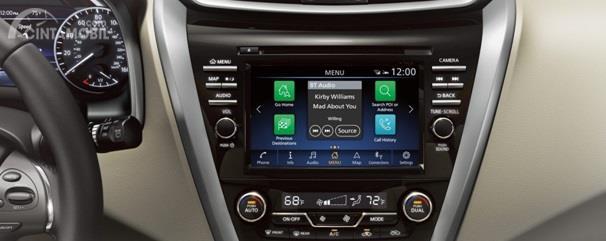 Fitur hiburan Nissan Murano 2019 hadir dengan audio Toucshcreen yang sudah didukung format lengkap