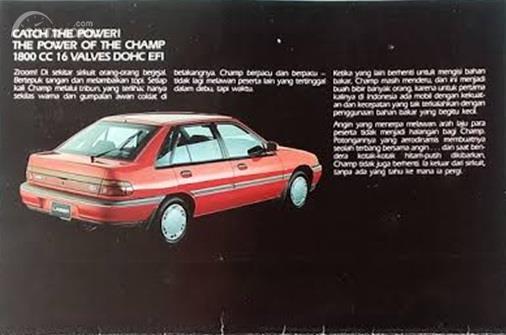 Brosur Ford Laser Champ yang menjelaskan tentang mesin 1.800 cc
