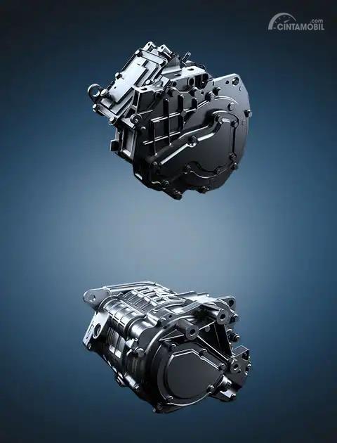 Gambar dua motor listrik di Mitsubishi Outlander PHEV
