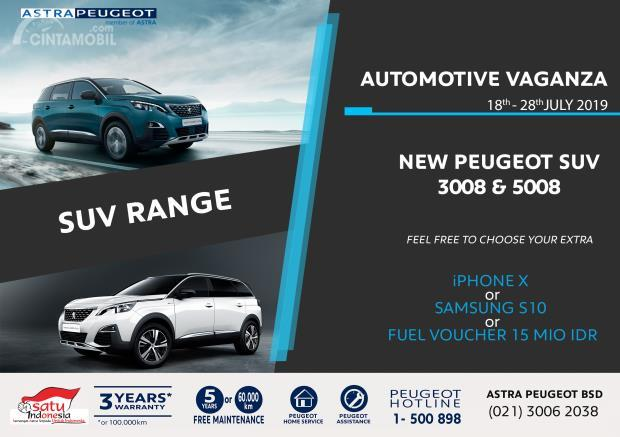 Program Peugeot Automotive Vaganza New Peugeot 5008 dan Peugeot 3008