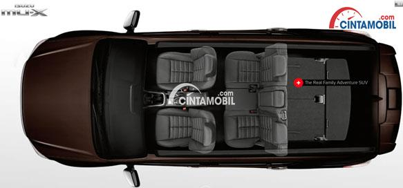 Aura kabin pada mobil Isuzu MU-X 2019