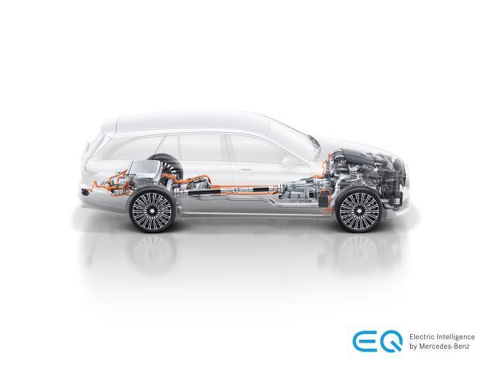 mesin Mercedes-Benz E 300 e AMG Line 2019 dari ilustrasi Mercedes-Benz