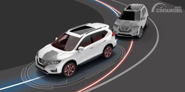 Teknologi blind spot warning Nissan X-Trail 2019