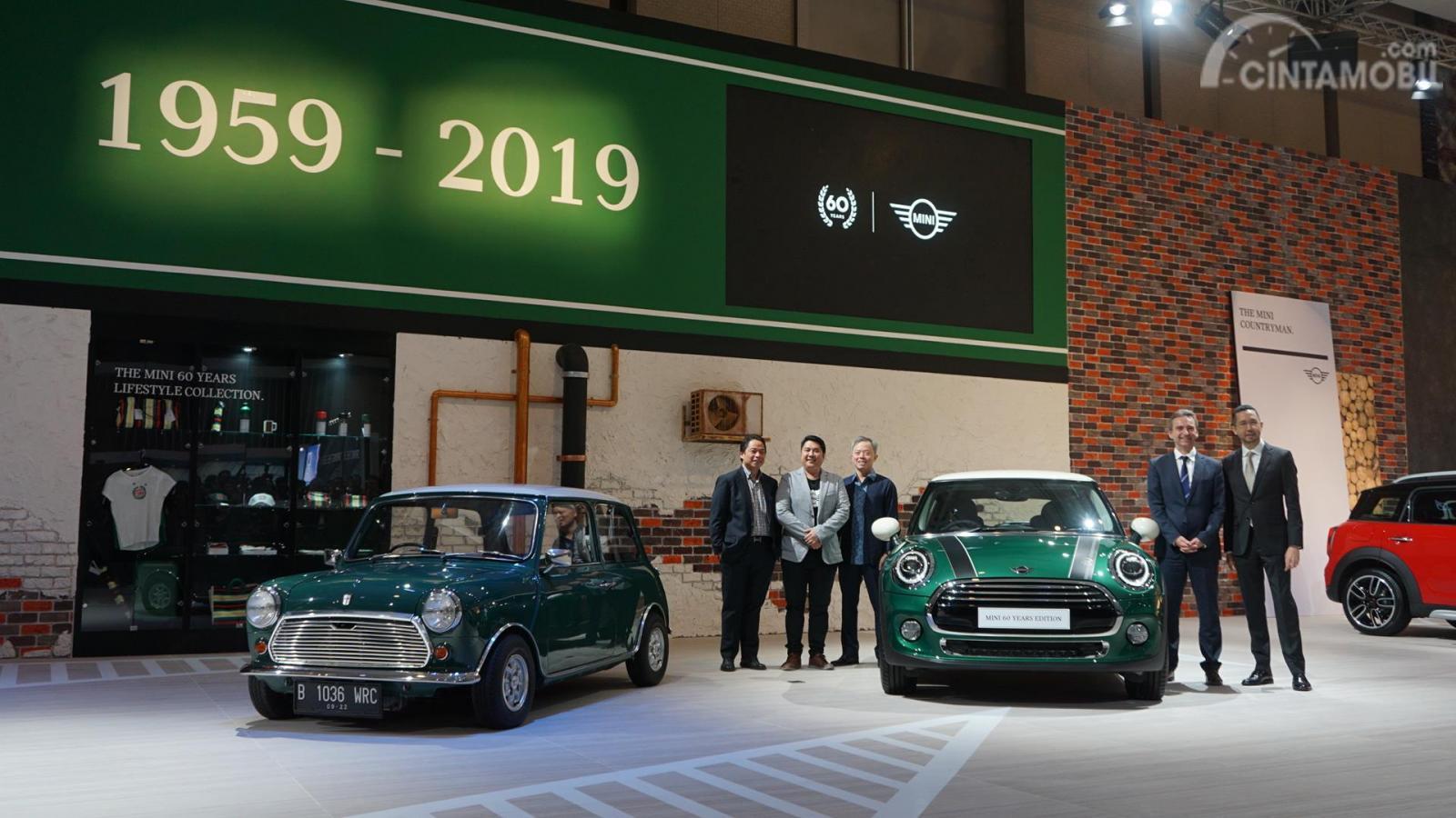peluncuran MINI 60 Years Edition 2019 berwarna hijau di GIIAS 2019