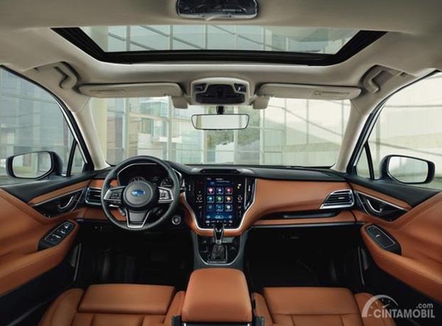 Dashboard Subaru Legacy 2020 dikemas sangat elegan dan dipenuhi bahan Soft Touch