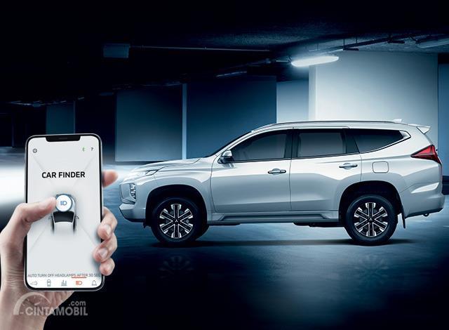 Gambar menunjukkan fitur Mobile Car Finder New Mitsubishi Pajero Sport 2019