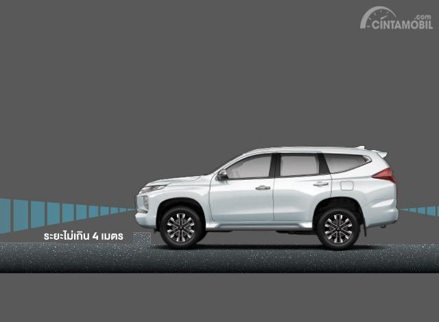 Gambar menunjukkan fitur Distance Radar New Mitsubishi Pajero Sport 2019