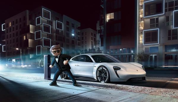Porsche Mission E di film Playmobil: The Movie
