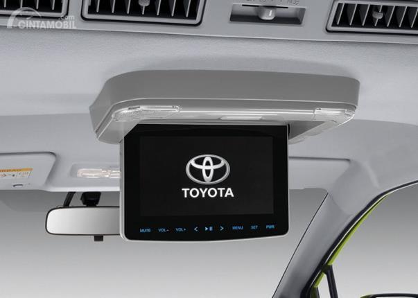 Layar entertainment system belakang Toyota Sienta