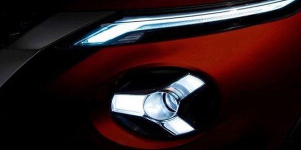 Foto headlight Nissan Juke dengan desain ala anak panah