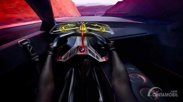 Desain kokpit BMW Vision M Next Concept