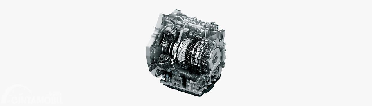 Gambar menunjukkan transmisi otomatis pada mobil Mazda 2 2019