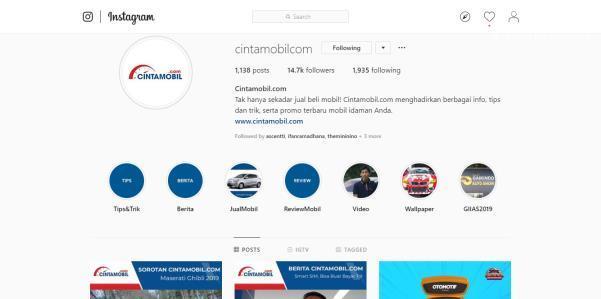 Akun Instagram Cintamobil.com