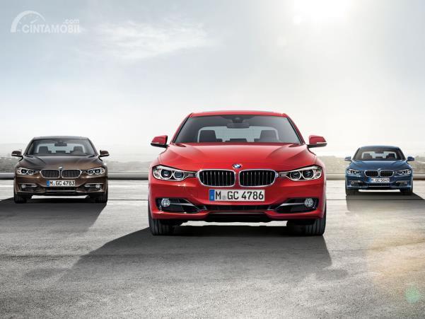 Gambar menunjukkan beberapa Generasi keenam BMW Seri 3, F30