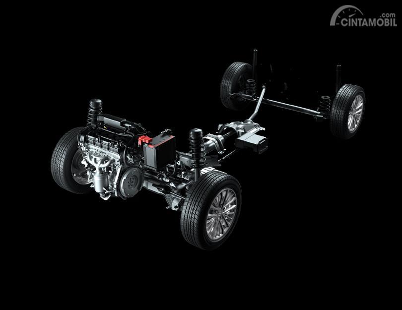 Foto menunjukkan Suzuki All New Ertiga Smart Hybrid 2019 dari konfigurasi Smart Hybrid
