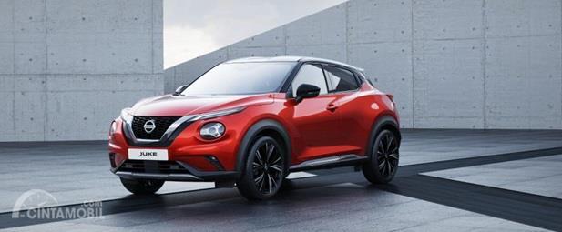 Eksterior Depan Nissan Juke 2019 kini punya lampu berbentuk sipit tersambung apik dengan Grille depannya