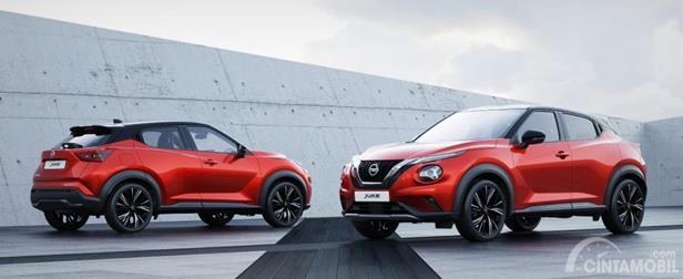Eksterior Nissan Juke 2019 masih mempertahankan tema Crossover-nya yang radikal namun dengan beberapa pembaruan