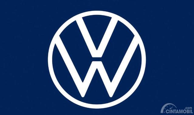 logo terbaru Volkswagen berwarna biru