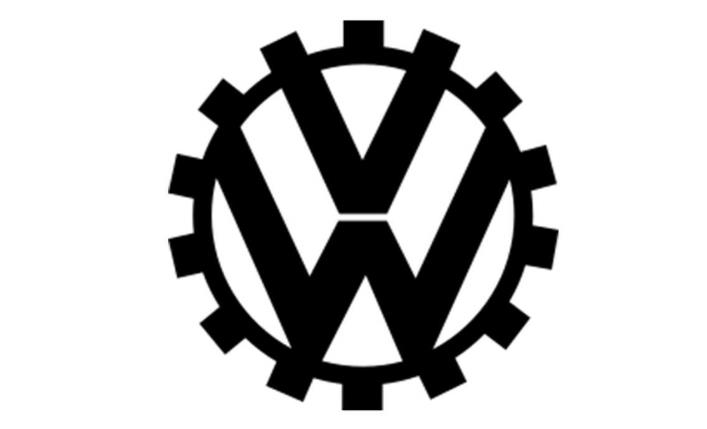 logo kedua Volkswagen berwarna hitam