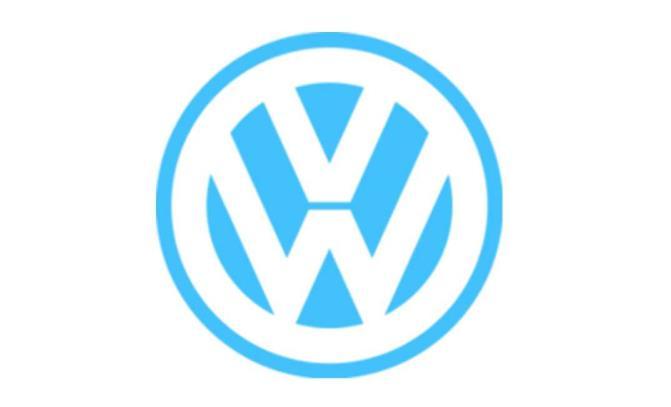 logo ketujuh Volkswagen berwarna biru