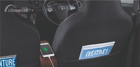 Gambar menunjukkan Seat back pocket Toyota New Calya 1.2 G 2019